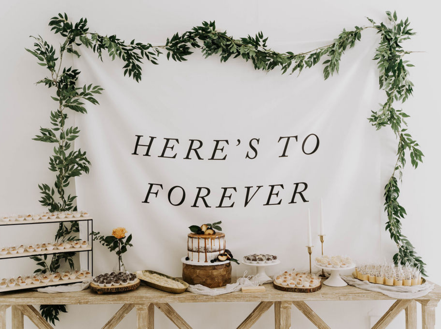 All-White Olive Branch Bridal Shower // Miami, Florida