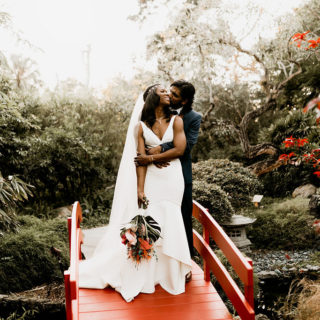 Tropical Miami Beach Botanical Garden Wedding