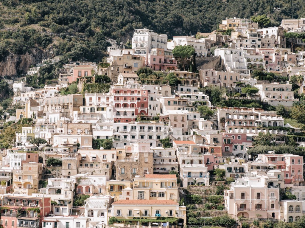 Positano cliffside view from Villa Magia