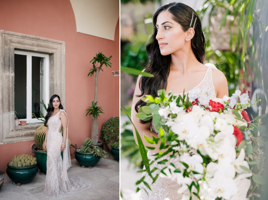 Bridal portraits at Villa Magia Positano