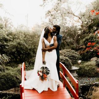 Tropical Miami Beach Botanical Garden Wedding